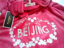 JUICY COUTURE DESTINATIONS BEIJING PASSION PINK VELOUR HOODIE L 12 14 £120!