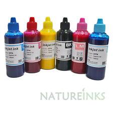6 di pigmento COLORANTE RICARICA INCHIOSTRO STAMPANTE KIT Bottiglie Per CISS / RICARICABILI 600 ml