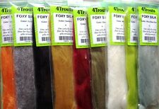 Fly Tying Synthetic Fibre FOXY SILK 4Trouts Set of 9 colors Streamers Hair Fur