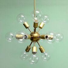 Mid Century 12 Arms Antique Brass Sputnik chandelier starburst light Fixture