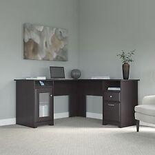 Bush Furniture Cabot L Shaped Desk In Espresso Oak Finish WC31830-03K New