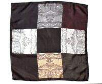 """ITALY SILK Scarf Paisley 9 Colors Pocket Handkerchief Hand Rolled 18"""" Unisex"""