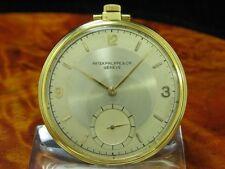 Patek Philippe & Cie 18kt Gold Open Face Pocket Watch / Ref 745/Caliber 17'''