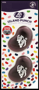 Jelly Belly 3D Gel Mini Vent Air Freshener Duo Pack Island Punch New & Sealed