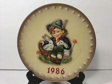 "Hummel, 1986, 7.5"" 16th Annual Collector Plate, ""Playmates"" Hum 279, Tmk-6"