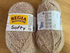 * SALE *Regia Softy Sock Yarn  50g BALLS (Stone col 00426 Lot 33294 )