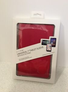 """NEW Tablet Sleeve Universal 7"""" Hype With Built In Stand Original Packaging Red"""
