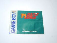 F-1 RACE manual only Nintendo Game Boy GERMAN gameboy
