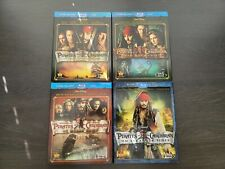 Pirates of the Caribbean 1-4 Blu-ray Movies w/ Slipcovers