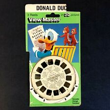 Vintage Viewmaster Disney DONALD DUCK CHIP 'N DALE 3 Reels plus 80s Style Card