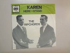 "RIP CHORDS:(w/Bruce Johnson)Karen-Here I Stand-Holland 7"" 63 CBS CA 281.173 PSL"