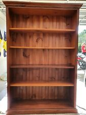 Solid Pine Stained Bookcase