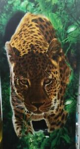 "Cheetah Beach Towel Big Cat Pool Souvenir 30""x60"""