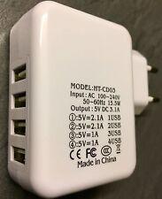 EF 2,1A Dual USB 4 Port EU Plug Ladegerät Charger Adapter für Huawei,Apple U