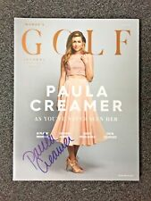 PAULA CREAMER hand signed autographed Women's Golf Journal magazine PROOF LPGA