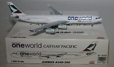 "Aviation 400 AV434001 Airbus A340-313X Cathay Pacific ""Oneworld"" B-HXG in 1:400"