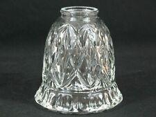 1 Royce Lead Crystal  Heavy Clear Glass Ceiling Fan Chandelier Wall Sconce