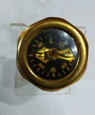 Vintage Brass pin-on Fluid Filled Pocket Compass made in West Germany