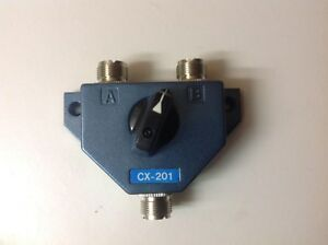GENUINE 2 Way Coax Antenna ANTENNAl Switch WITH SO-239 INPUT/OUTPUTS (UP TO 1GHz