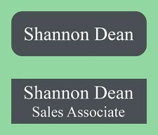 1X3 Personalized Plastic I.D Name Tag Badge 20 Colors Square or Round Corners