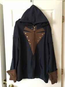 NEW Assassin's Creed Unity ~ Arno Adult Costume Zip Up Hoodie ~ Size XX-Large