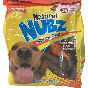 Nylabone Natural NUBZ Edible Dog Chews 2.6lb 18 Large-36 Smaller Chews Per Bag