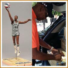 McFarlane NBA George Gervin SIGNED ABA Figure of San Antonio Spurs
