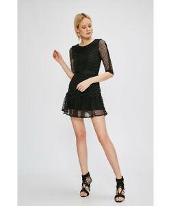 NEW WITH TAGS LIU JO black lace mini dress IT 42 Fits AU 10