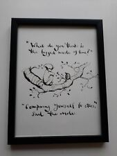 CHARLIE MACKESY FRAMED BOOK EXTRACT. 'THE BOY,THE MOLE, THE FOX AND THE HORSE. '