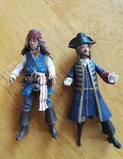 Captain Jack Sparrow Hector Barbossa Disney Pirates of the Caribbean 2011 Jakks
