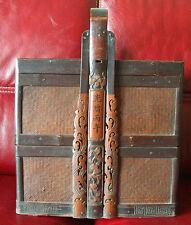 ANCIEN RARE PANIER REPAS BAMBOU CHINOIS ANNEE 1906 ANTIQUE BON ETAT GENERAL