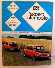 "mensuel ""l'expert automobile"" n° 91 sept 1973 simca rallye 1 et 2"