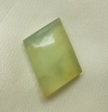 Peruvian Blue Opal Cabochon Translucent Angled Rectangle light green Gemstone 8c