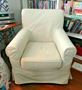 IKEA Ektorp Jennylund Full Chair Cover Cream-Beige DISCONTINUED