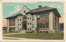 Parnassus Public School in Parnassus PA Postcard 1925