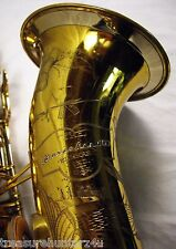 1950 BUESCHER 400 TOP HAT & CANE PROFESSIONAL TENOR SAXOPHONE SNAP IN PADS RARE