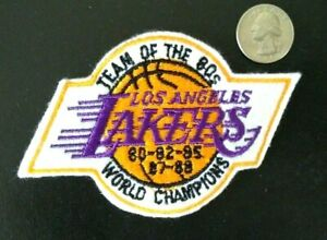 Los Angeles Lakers NBA Team Of The 80's World Champs Embroidered Flannel Patch