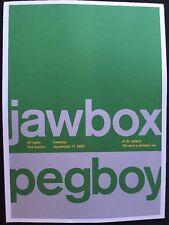 """Jawbox,Peg boy & Kraut. 2 Sided Rock Concert Mini Poster Op Art 14""""x10"""", Ref:15"""