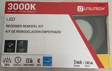 Utilitech LED Bronze Baffled Recessed Remodel Kit.  Warm White 3 inch.