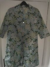 Ladies Nylon Overall LARGE Rustly Apron Pinny by Prova Multicoloured Floral VGC