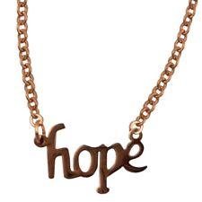 Kette mit Anhänger HOPE in Bronze Spruch Sprüche Liebe Hoffnung Tattoo