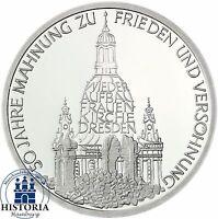 BRD 10 DM Frauenkirche in Dresden 1995 Silber Stempelglanz Münze in Münzkapsel