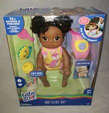 Baby Alive Baby Go Bye Bye - African American Dark Brown Hair English & Spanish