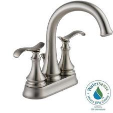 Delta Kinley 4 in. Centerset Bathroom Faucet in SpotShield Brushed Nickel