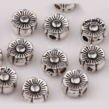 30Pc Charm Tibetan Silver Loose Spacer Beads for Bracelet Necklace Making 6X3mm