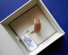 NWT ESCADA Rose Gold Plated 925 Sterling Silver Ring Size 7 MSRP $350.00