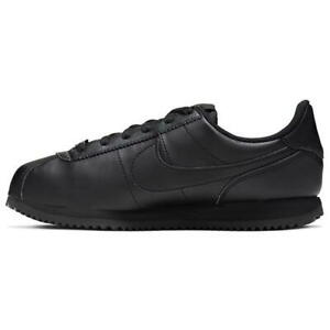 Nike Cortez UK Size 5 Women's Trainers Black Leather Classic Shoes