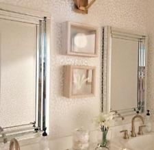 Frameless Modern Ashton Stepped Wall Mirror Beveled Vanity Bath Hall Venetian