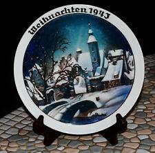 1943 Rosenthal Christmas Plate Weinachten Winter Idyll WW2 Era