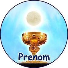 Premiere Communion Eglise Décoration  Gateau Disque Azyme Comestible  20cm